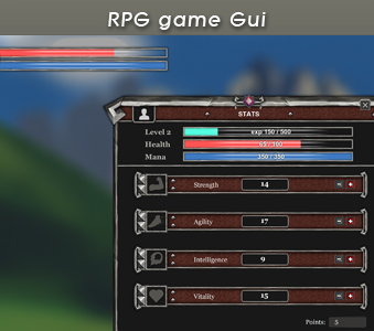 RPG Game GUI