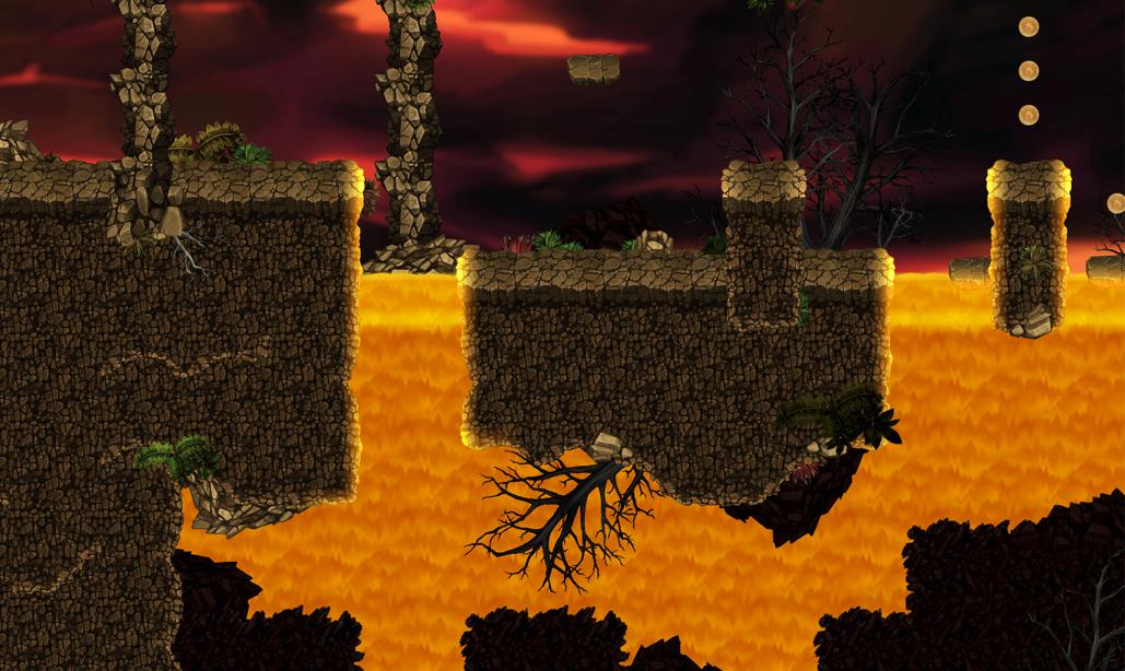 volcano platformer tileset 2