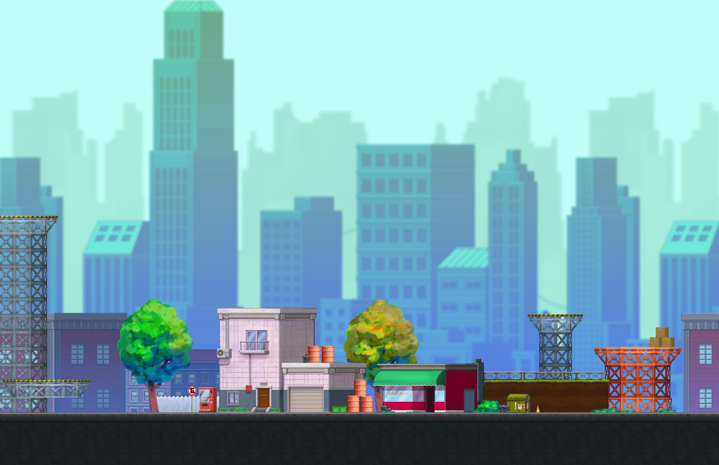 city handpainted game tileset 3