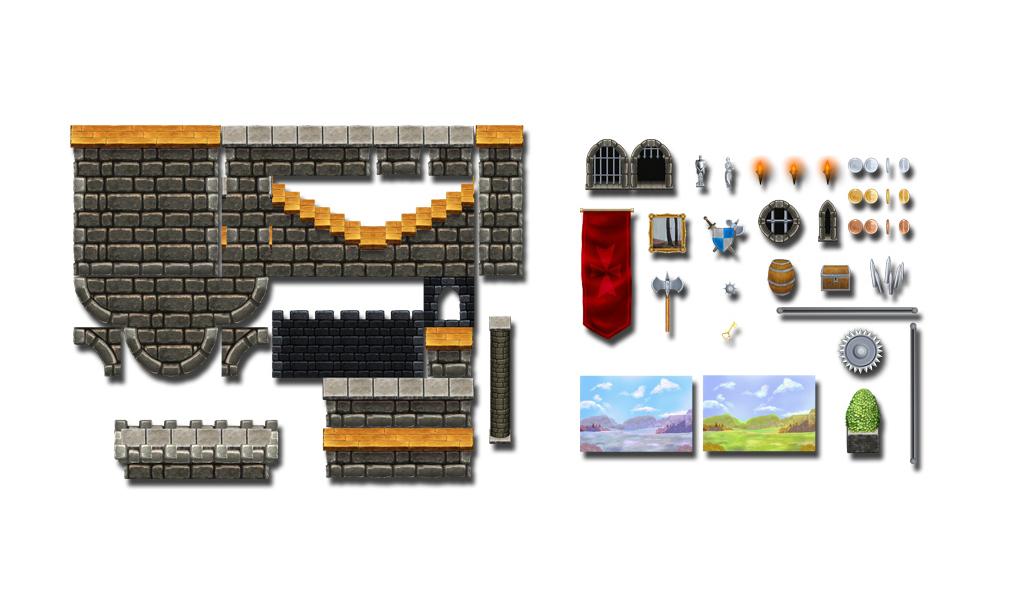 Fortified Castle - Platform Tileset4
